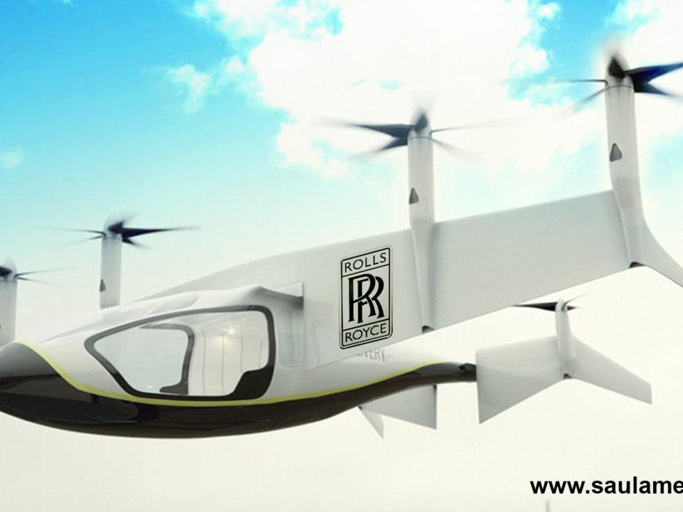 saul amelich - Rolls Royce mostró su primer vehículo volador