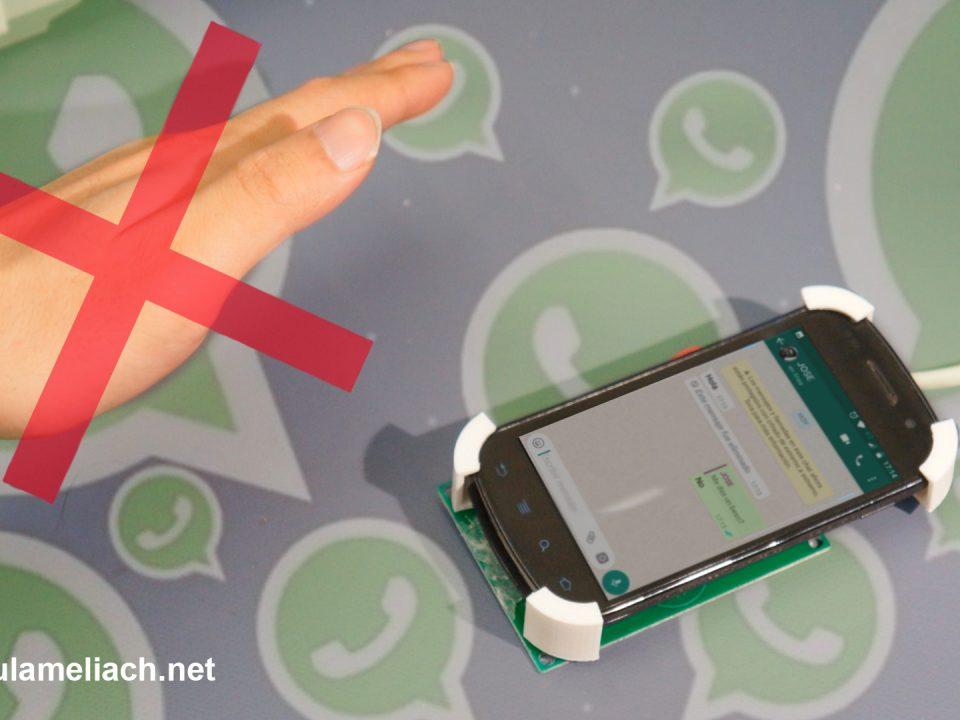 Enviar mensajes de whatsapp sin tener que tocar el teléfono